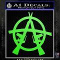 Anarchy AK 47s Decal Sticker Lime Green Vinyl 120x120