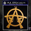 Anarchy AK 47s Decal Sticker Metallic Gold Vinyl 120x120