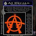 Anarchy AK 47s Decal Sticker Orange Vinyl Emblem 120x120