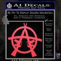 Anarchy AK 47s Decal Sticker Pink Vinyl Emblem 120x120