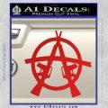 Anarchy AK 47s Decal Sticker Red Vinyl 120x120