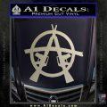 Anarchy AK 47s Decal Sticker Silver Vinyl 120x120