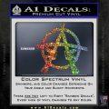Anarchy AK 47s Decal Sticker Sparkle Glitter Vinyl Sparkle Glitter 120x120