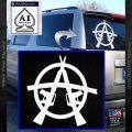 Anarchy AK 47s Decal Sticker White Vinyl Emblem 120x120