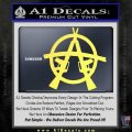 Anarchy AK 47s Decal Sticker Yellow Vinyl 120x120