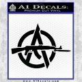 Anarchy Decal Sticker AK 47 Black Vinyl Logo Emblem 120x120