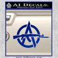 Anarchy Decal Sticker AK 47 Blue Vinyl 120x120