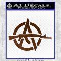 Anarchy Decal Sticker AK 47 Brown Vinyl 120x120