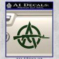 Anarchy Decal Sticker AK 47 Dark Green Vinyl 120x120