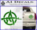 Anarchy Decal Sticker AK 47 Green Vinyl 120x97