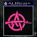 Anarchy Decal Sticker AK 47 Hot Pink Vinyl 120x120