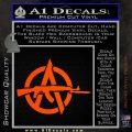 Anarchy Decal Sticker AK 47 Orange Vinyl Emblem 120x120