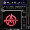 Anarchy Decal Sticker AK 47 Pink Vinyl Emblem 120x120