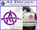 Anarchy Decal Sticker AK 47 Purple Vinyl 120x97