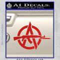 Anarchy Decal Sticker AK 47 Red Vinyl 120x120