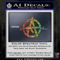 Anarchy Decal Sticker AK 47 Sparkle Glitter Vinyl Sparkle Glitter 120x120