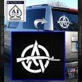 Anarchy Decal Sticker AK 47 White Vinyl Emblem 120x120