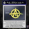 Anarchy Decal Sticker AK 47 Yellow Vinyl 120x120