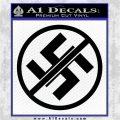Anti Nazi No Nazis Allowed Decal Sticker Black Vinyl Logo Emblem 120x120