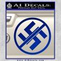 Anti Nazi No Nazis Allowed Decal Sticker Blue Vinyl 120x120