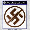 Anti Nazi No Nazis Allowed Decal Sticker Brown Vinyl 120x120
