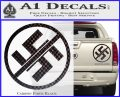 Anti Nazi No Nazis Allowed Decal Sticker Carbon Fiber Black 120x97