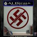 Anti Nazi No Nazis Allowed Decal Sticker Dark Red Vinyl 120x120