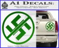 Anti Nazi No Nazis Allowed Decal Sticker Green Vinyl 120x97