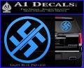 Anti Nazi No Nazis Allowed Decal Sticker Light Blue Vinyl 120x97