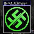 Anti Nazi No Nazis Allowed Decal Sticker Lime Green Vinyl 120x120