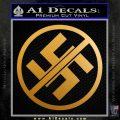 Anti Nazi No Nazis Allowed Decal Sticker Metallic Gold Vinyl 120x120