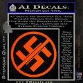 Anti Nazi No Nazis Allowed Decal Sticker Orange Vinyl Emblem 120x120