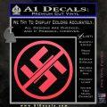 Anti Nazi No Nazis Allowed Decal Sticker Pink Vinyl Emblem 120x120