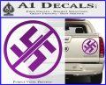 Anti Nazi No Nazis Allowed Decal Sticker Purple Vinyl 120x97