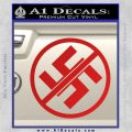 Anti Nazi No Nazis Allowed Decal Sticker Red Vinyl 120x120