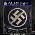 Anti Nazi No Nazis Allowed Decal Sticker Silver Vinyl 120x120