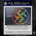 Anti Nazi No Nazis Allowed Decal Sticker Sparkle Glitter Vinyl Sparkle Glitter 120x120