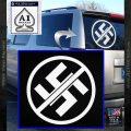 Anti Nazi No Nazis Allowed Decal Sticker White Vinyl Emblem 120x120
