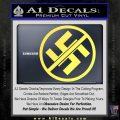 Anti Nazi No Nazis Allowed Decal Sticker Yellow Vinyl 120x120