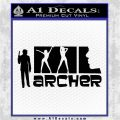 Archer Decal Sticker Title Spy FX Black Vinyl Logo Emblem 120x120