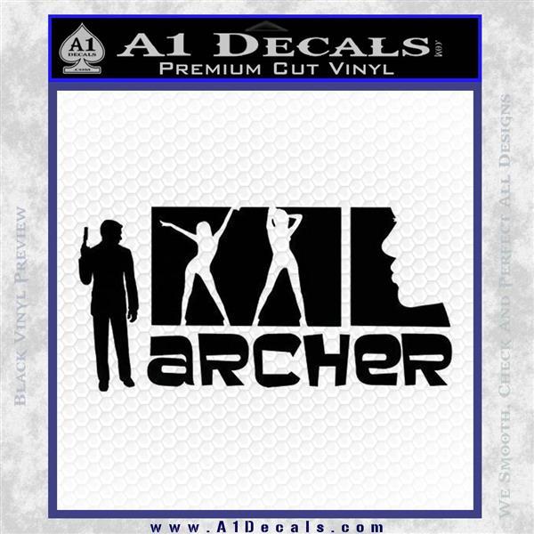 Archer Decal Sticker Title Spy FX Black Vinyl Logo Emblem