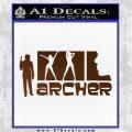 Archer Decal Sticker Title Spy FX Brown Vinyl 120x120