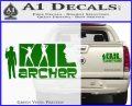 Archer Decal Sticker Title Spy FX Green Vinyl 120x97