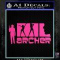 Archer Decal Sticker Title Spy FX Hot Pink Vinyl 120x120