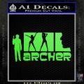 Archer Decal Sticker Title Spy FX Lime Green Vinyl 120x120