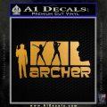 Archer Decal Sticker Title Spy FX Metallic Gold Vinyl 120x120