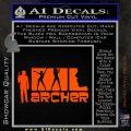 Archer Decal Sticker Title Spy FX Orange Vinyl Emblem 120x120