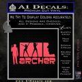 Archer Decal Sticker Title Spy FX Pink Vinyl Emblem 120x120