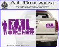 Archer Decal Sticker Title Spy FX Purple Vinyl 120x97