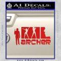Archer Decal Sticker Title Spy FX Red Vinyl 120x120